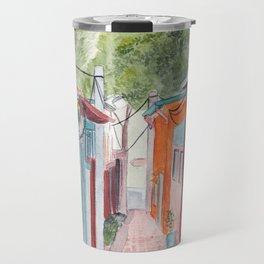 Korean Street Watercolor Illustration Travel Mug