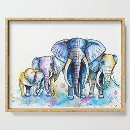 Elephant Herd Serving Tray