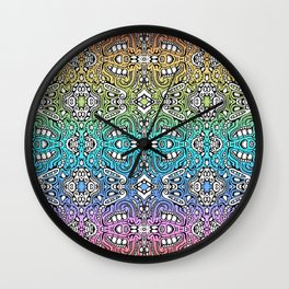 lovely lumps - rainbow abstract pattern Wall Clock