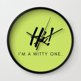 Hi! I'm a Witty One Facial Mask Wall Clock