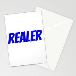 Realer Blue Stationery Cards