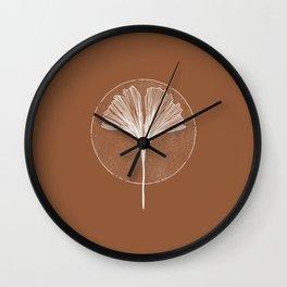 Wabi Sabi Ginkgo Leaf Wall Clock
