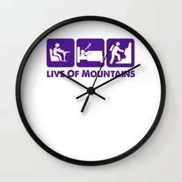 Live Of Mountains pu Wall Clock