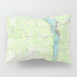 WI La Crosse 803110 1984 topographic map Pillow Sham