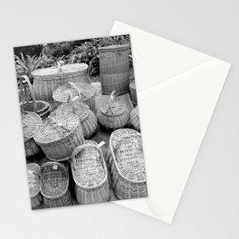 Wicker baskets Stationery Cards