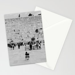 Holy-place, religious jewish men talking | The Western Wall in the Old City, Jerusalem, Israel | Fine art print photography Art Print Stationery Cards