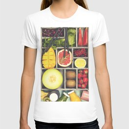 Fresh juices or smoothies with fruits and vegetables T-shirt