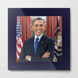 official portrait of Barack Obama Metal Print