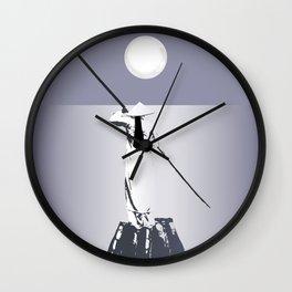 Exotic moonlight Wall Clock