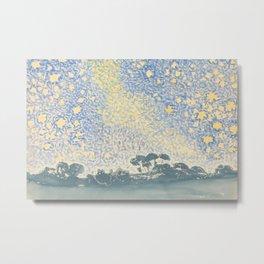 Landscape with Stars by Henri-Edmond Cross 1905–1908, French Metal Print