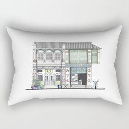 Penang Street Scene I Rectangular Pillow