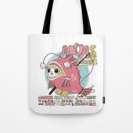 Aqua cat_Muka Tote Bag