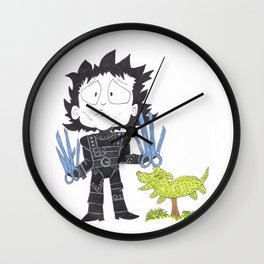 Mr Scissor Hands Wall Clock