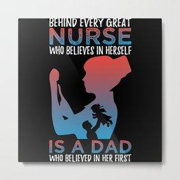 Nurse Dad Metal Print
