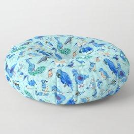 Blue Birds Floor Pillow