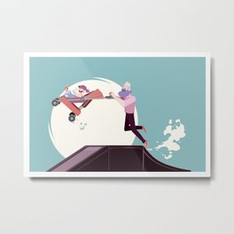 Stay at home dad - Stroller on ramp Metal Print