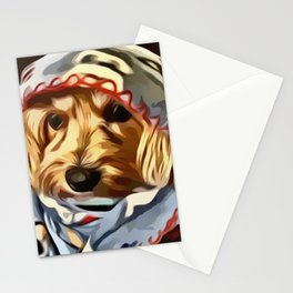 Copper the Havapookie with Blanket Stationery Cards