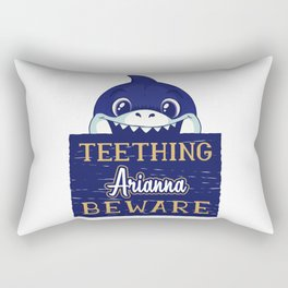 Arianna - Funny Kids Shark - Personalized Gift Idea - Bambini Rectangular Pillow