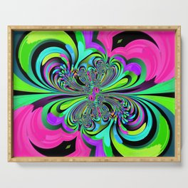 Psychedelic Bright 3 Serving Tray