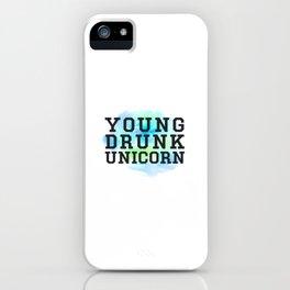 Young Drunk Unicorn - Design iPhone Case