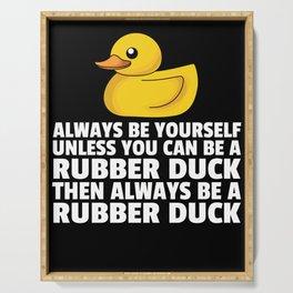 Rubber duck Squeak duck Bath duck Duck Serving Tray