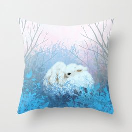 Baby Bun Buns at Dusk Throw Pillow