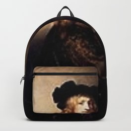 Rembrandt - Portrait of a man with a hawk Backpack