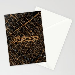 Mississauga | Ontario | Canada - Minimalist City Map Stationery Cards