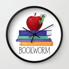 Bookworm Wall Clock