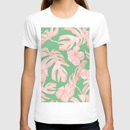 Island Life Seashell Pink + Green T-shirt