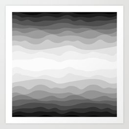 mountains in gray Art Print