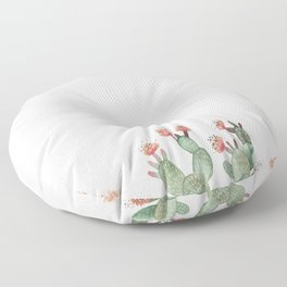 Prickly Pear Cactus Succulent Floor Pillow