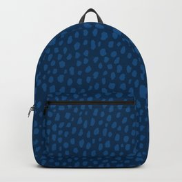 Handmade Polka Dot Paint Brush Pattern (Pantone Classic Blue) Backpack