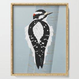 Downy Woodpecker Serving Tray