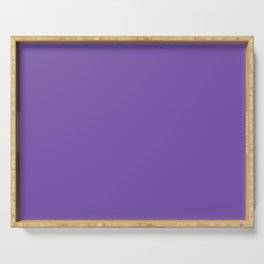 From The Crayon Box – Royal Purple - Bright Purple Solid Color Serving Tray