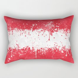 Austria Flag - Messy Action Painting Rectangular Pillow