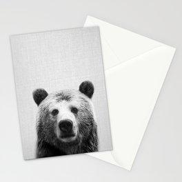 Bear - Black & White Stationery Cards
