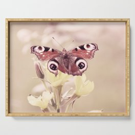 Butterfly Love in soft pastell Serving Tray