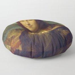 Mona Lisa - Leonardo da Vinci Floor Pillow