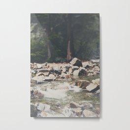 Lake Tahoe mountain river photograph Metal Print