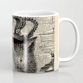 dictionary print steampunk gear halloween spooky black cat Coffee Mug