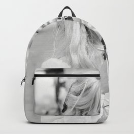 Brigitte Bardot with Camera , Vintage Actress , Poster, Style print, Fashion photography Backpack