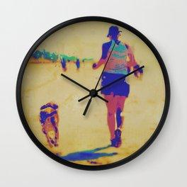 Beach Runner Wall Clock