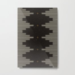 Southwestern Minimalist Black & White Metal Print