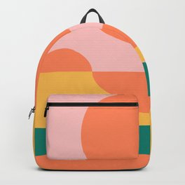 Simple Shapes Artwork in Summer Citrus Colors Backpack