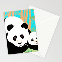 Pandas In Mongolia Stationery Cards