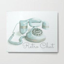 Retro Chat Metal Print