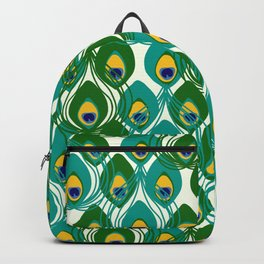 Abstract Peacock Pattern Backpack