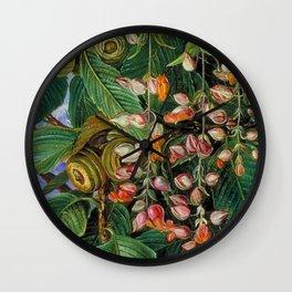 A Dar-jeeling Oak Festooned with Flowering Climbers still life painting Wall Clock