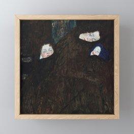 Gustav Klimt - Mutter mit zwei Kindern (Familie) Framed Mini Art Print